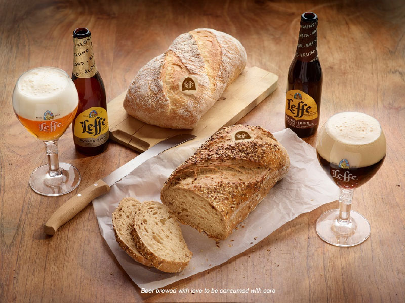 Leffe and bread
