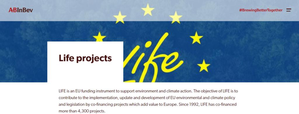 Website: https://ab-inbev.eu/life-projects/